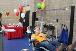 A dear friend gives life-saving blood on Caemon's birthday.