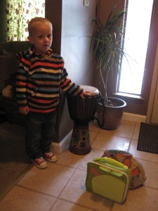 Caemon's first day of preschool.