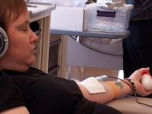 Jodi gives blood